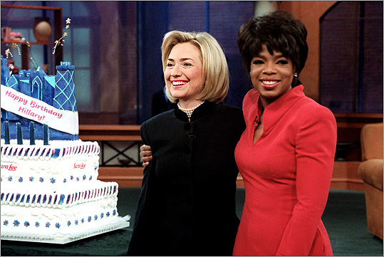 Hillary Clinton and Oprah Winfrey