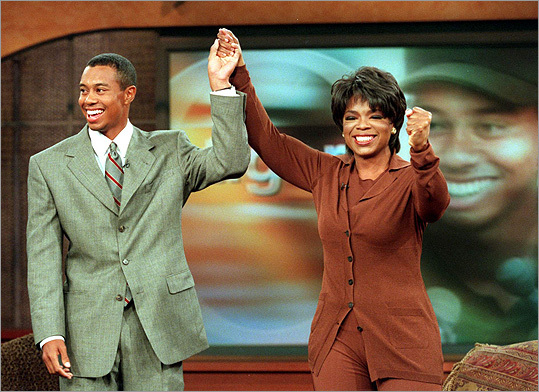 Tiger Woods and Oprah Winfrey
