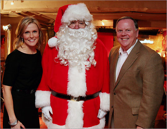 Lisa Hughes, Globe Santa, and Bill Brett