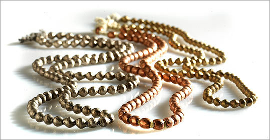 Funky and unique ideas to thrill everybody on your list. JUST BEAD IT Gents, no matter what a woman says, jewelry is always a welcome gift. Necklaces in brass, $32, copper, $24, and pewter, $30, at Joanne Rossman, 6 Birch St., Roslindale Village, 617-323-4301. www.joannerossman.com . Please note: Some items may not be available for purchase online. Please call retailers with any questions about where to buy merchandise.