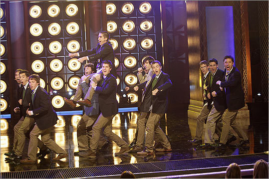 Despite their khakis, ties, and jackets, the all-male Beelzebubs are no fans of uniformity. Their energetic performances include flailing arms, stamping feet, and running around on stage. They edged out nearly 1,000 other a cappella groups that vied last summer for spots on ''The Sing-Off.''
