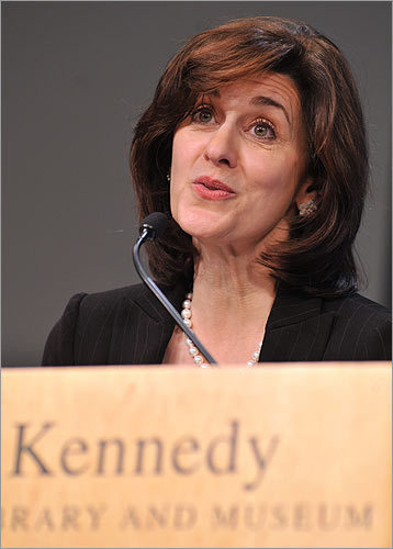 Vicki Kennedy Ted Kennedy's widow helped the citizens of Massachusetts to heal, personally thanking many of the thousands who turned out to mourn.