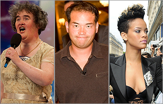 Susan Boyle, Jon Gosselin, and Rihanna
