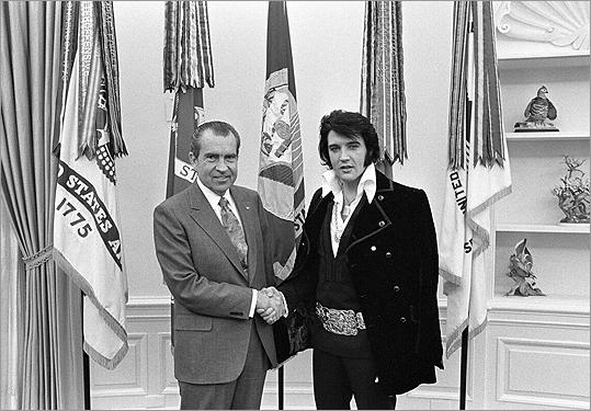 Elvis Presley and President Nixon