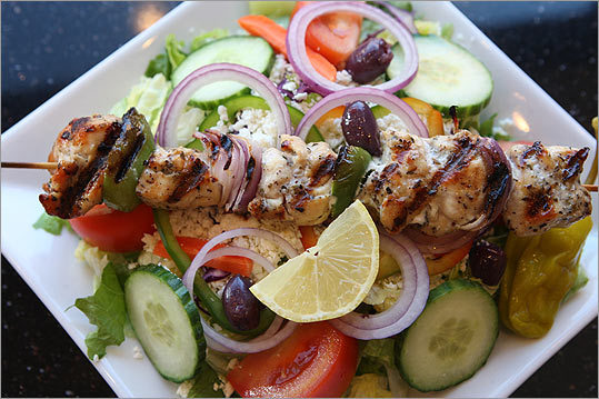 ESPERIA GRILL & ROTISSERIE We've spent years looking for a kebab house where the food is simple, well made, and inexpensive, the kind of place you can stop by a couple times a week. At Esperia Grill & Rotisserie, Tim and Georgia Athanasiadis offer a chicken kebab on Greek salad with pita that's a perfect version of the dish ($9.50). Order at the counter, have a seat, and pretend it's a real kouzina. 344 Washington St., Brighton, 617-254-8337, www.esperiagrill.com S.J.