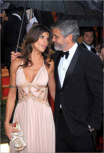 Georgy Clooney and Elixabetta Canalis