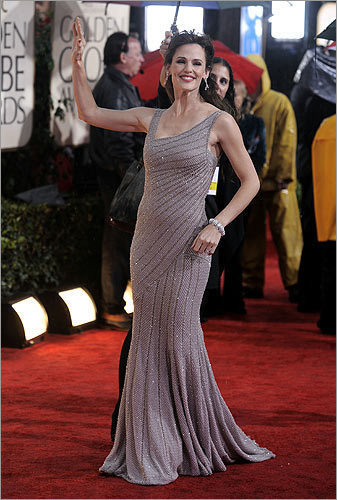 Jennifer Garner in Atelier Versace at the Golden Globes Awards in Los Angeles on Jan. 17, 2010.