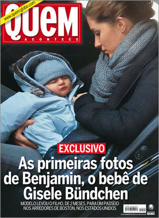 Gisele Bundchen with son Benjamin on the cover of Quem