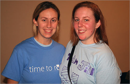 As the proud owners of the second spot in line, Jillian and Hayley Belanger arrived at the Hynes Convention Center at 11 p.m. Apparently, they usually choose to get an early start, since Jillian's wedding isn't until May 21, 2011. 'We're here for the experience,' she said. 'We're just planning to scatter, grab as much as we can, and meet somewhere.'