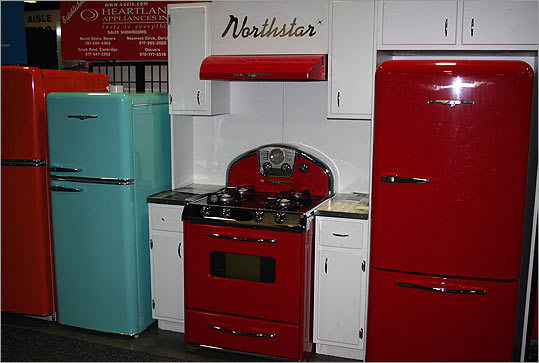 Want a new kitchen with an old-fashioned feel? Northstar Appliances by Elmira Stove Works has you covered. The stoves are available with gas burners or electric smoothtop elements, and the refrigerators are Energy Star rated.