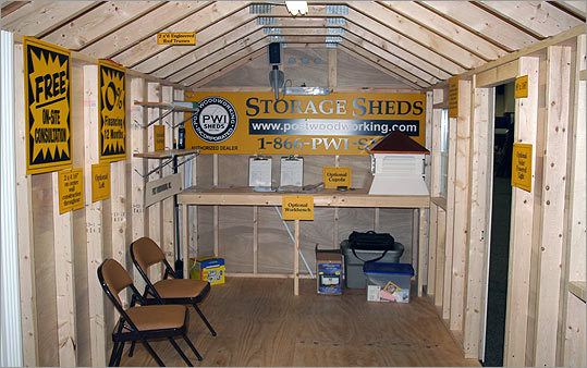 Need a little extra storage? These fully assembled sheds from Post Woodworking Inc. give loads of space with the benefit of free on-site construction.