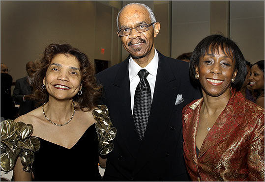 Feb. 27 in Dorchester From left: Phyllis Feaster of Stoughton with Allen Mansfield and his wife, Lynn, of Hudson, N.H.