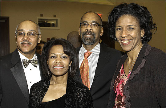 Feb. 27 in Dorchester From left: Armond and Deb Enos of Ashland with Winston Ritchie and his wife, Charlotte Golar Richie, of Dorchester.