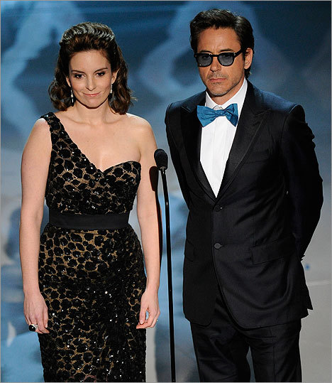 Tina Fey and Robert Downey Jr.