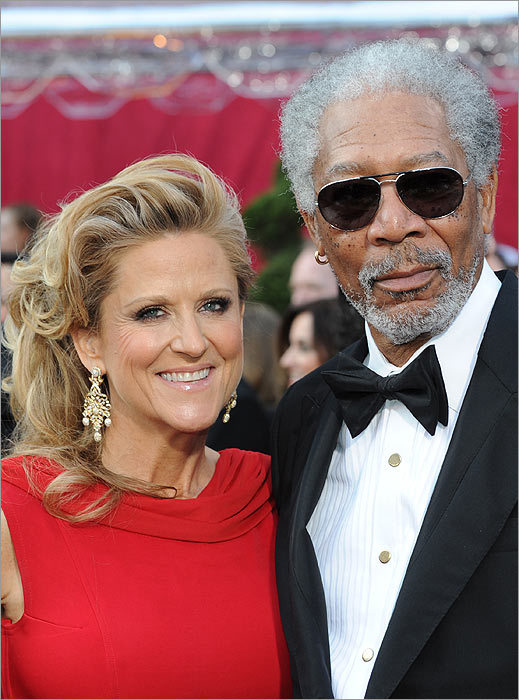 Morgan Freeman and companion