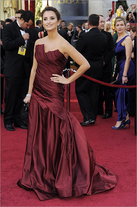 *Readers' top pick: Penelope Cruz in Donna Karan at the Oscars in Los Angeles on March 7, 2010. Is Cruz's dress a hit or a miss? online survey