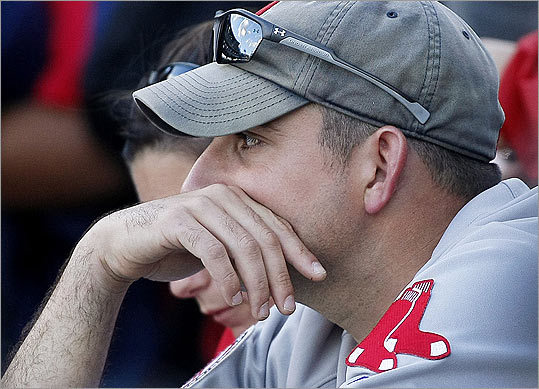 From a Red Sox Fan (a cynic) Out of a winter so dank and drear, Our Red Sox bid us all come and cheer. With hope and faith sober, Until cold October, Then wait we will again for next year. -- Christopher Russo, Boston
