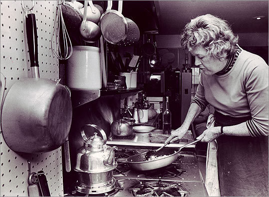 Remembering Julia There once was a grand chef named Child At the Cordon Bleu school she riled 'Til she mastered the art Of cassoulets and tarts And her Boeuf Bourguinon beguiled. - REB64