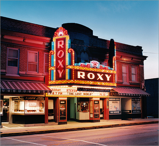 Stefanie Klavens is a Boston photographer whose exhibit 'The Art of the Movie Theater' runs at the National Heritage Museum in Lexington through May 31. Browse through to take a look at some of her work. Pictured, the Roxy Theatre in Northampton, Penn.