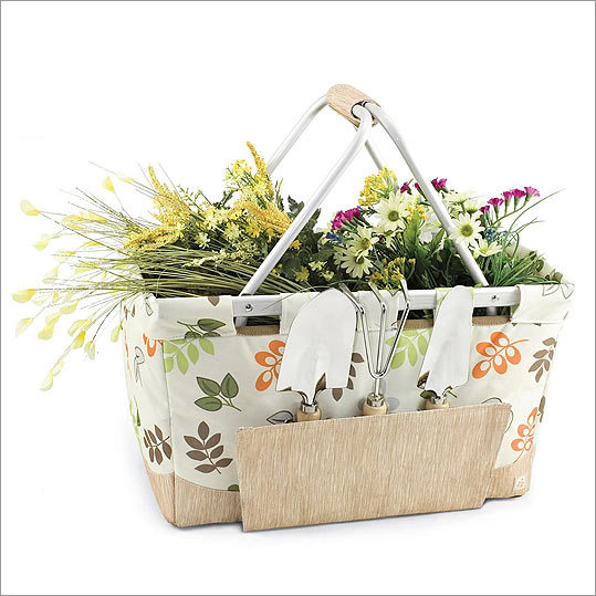 Picnic Time Garden Metro Basket The thing about gardening is that you never seem to have all the tools you need in one place. This combination basket/tool kit solves that problem — and provides ample room for cut flowers and produce from your thriving backyard garden. Available for $49.99 at Kohl's. www.kohls.com .