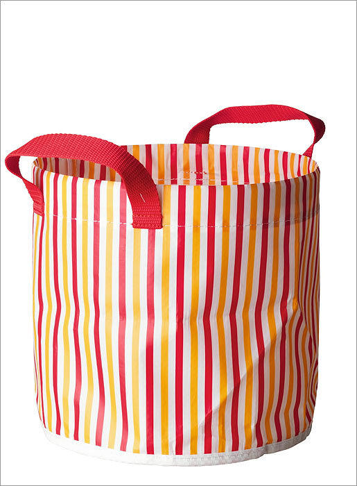 Vastlig garden bag These colorful Ikea garden bags can be used to haul leaves to the compost pile, or to collect weeds while gardening. Nylon bags can be rinsed and reused. The bags are available in different sizes for $1.99 and $2.99 at Ikea in Stoughton, www.ikea.com .