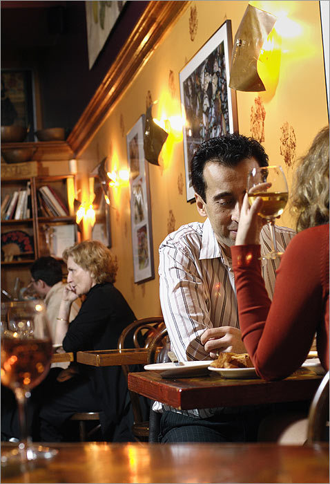 Whether you're looking to launch a new romance or to keep the flame alive in a decades-old one, dining out is bound to be a part of the proceedings. Our guide to the best date restaurants in Boston and beyond can help. Taberna de Haro There are sleeker (Estragon), livelier (Bar Lola), and cozier (Dali) tapas joints in town, even some with more sophisticated fare (Toro). But this hidden jewel takes the croqueta for authenticity and laid-back ambience. Inside, the bustling bar and the pumpkin-and-plum color scheme evoke a tapas bar in Seville, though the more ambitious offerings favor Madrid – as does the stellar wine cellar. In mild weather, arrive before sundown, get your name on the list for a patio table, and spend the pre-meal conducting your own sherry taste test at the bar and perhaps nibbling a pincho or two. Once darkness – and the jerez buzz – sets in and the street lamps start to glow, there's no more romantic setting in the city. (Brookline, is that really you?)