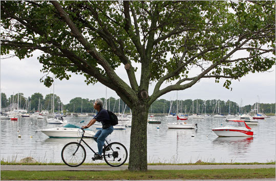 East Bay Bike Path, R.I. This route takes you through bridges, state parks and more along the Rhode Island coast. Enjoy a 14-mile ride and take in what nature has to offer. Duration: Half day Cost: Free Map