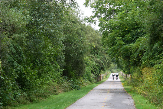 Peterborough Road Bike Rides, N.H. Filled with different paths and trials stretching out for miles of biking adventures. Take in the well-preserved towns, pine and hardwood forests, farm fields, lakes, streams, and a lively assortment of summer arts and culture centers. Duration: Full day and half day paths Cost: Free Map