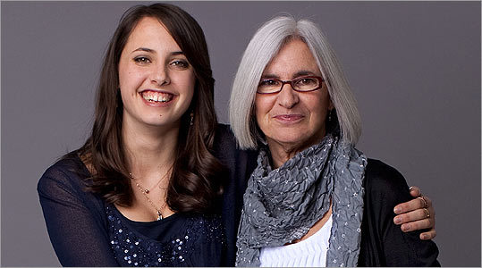 Clothing designer Eileen Fisher, 59, sometimes wears the same clothes as her 17-year-old daughter, Sasha.