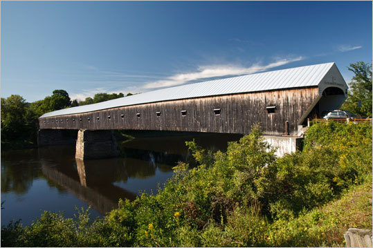 Covered Bridge Cruise, Swanzey, N.H. This ride goes through several covered bridges to give your trip an old-time feel. Zip by rivers and trees on this 32-mile path along New Hampshire terrain. Duration: Half day or fill day Cost: Free Map
