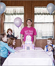MAKING A WISH...COME TRUE Amanda Rodriguez, a mental health counselor, also runs her own business serving a broad spectrum of party people, whether it's with her cake-making skills or her DJ services.