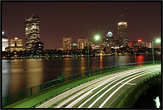Shay Tal of Boston took this photo from atop Longfellow Bridge in 2008.