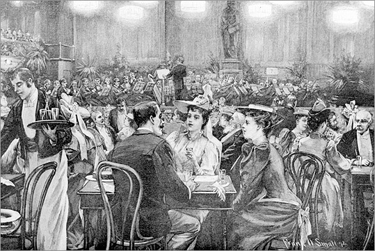 An early audience at the Boston Pops.