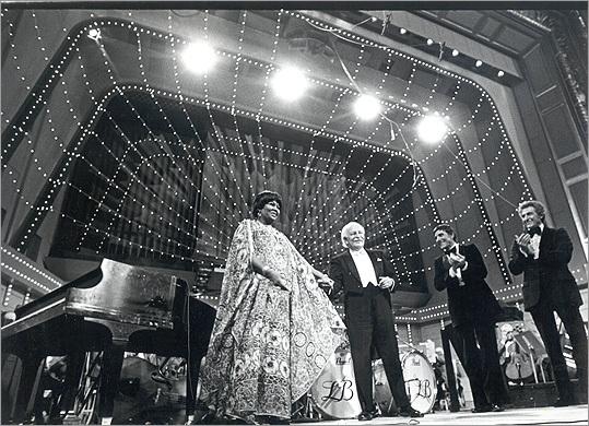 Pearl Bailey and Arthur Fiedler