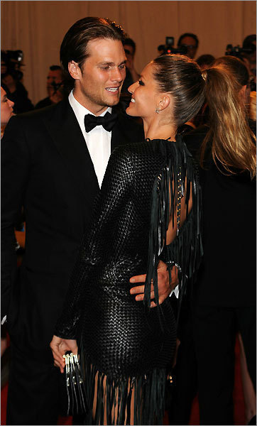 Tom Brady and Gisele Bundchen at the Met Costume Institute Gala