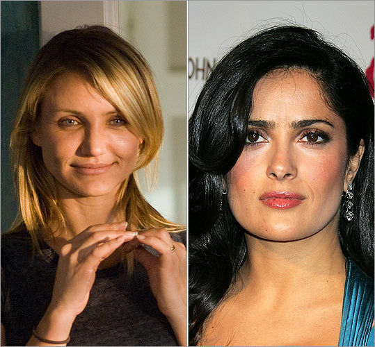 > 5 Cameron Diaz and Salma Hayek (tie) <!-- // define variables var date = new Date(); var current_time = date.getTime(); // write SCRIPT tag to browser document.writeln(' '); // -->