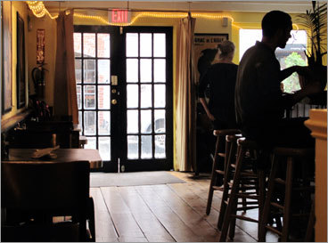 Just steps from the hotel is chef-owner Jean Claude Vassalle's Merry Table Creperie ( 43 Wharf St., 207-899-4494 ), a charming French country bistro. Indulge in a bowl of French onion soup ($6.95), then savor a crepe ($9-$13), perhaps jambon fromage (Black Forest ham and Swiss cheese) or Poireaux (braised leeks, wild mushrooms, and goat cheese). Share a sweet crepe ($5-$7) for dessert.