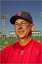 THE LONG VIEW Terry Francona, who posed for this portrait after some hesitation, manages to keep his cool no matter what the club's record is.