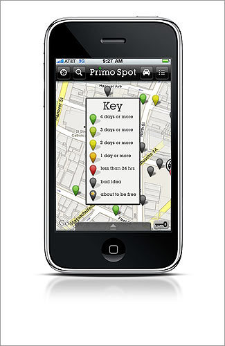 Primo Spot Parking Locates garages, bike racks, and open street parking in Boston and Cambridge. Some versions remember where you parked. WORKS WITH Android, BlackBerry, iPhone, mobile Internet COST $2.99 INFO primospot.com