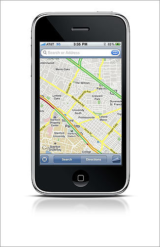 Google Maps for Mobile Check traffic conditions in real time based on GPS data from all those location-enabled phones being driven around in cars. WORKS WITH Android, BlackBerry, iPhone, Nokia S60 smart phone COST free INFO google.com/mobile
