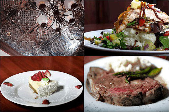 There's nothing skimpy about Stearns & Hill's Bistro. Famished night owls can swoop into the steakhouse at 11 p.m. and order a bone-in prime rib that looks like it's straight out of Bedrock. Specials include such dishes as lemony, cheesy scallop risotto, the wine list is nicely priced, and the pungent vinegar pepper pork chop turns heads when it sails through the room. Because Melrose is a dry town, restaurants must serve food with their spirits, making this vintage downtown a dining destination. Stearns & Hill's is the best place there. > Kitchen closes at 11 p.m. Thursday through Saturday, 10 Monday through Wednesday, 9 on Sunday > Stearns & Hill's Bistro, 505 Main Street, Melrose, 781-662-9111, stearnsandhillsbistro.com