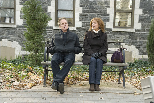 "Michael Douglas plays a disgraced New York car dealer and Susan Sarandon is his ex-wife in ""Solitary Man.''"