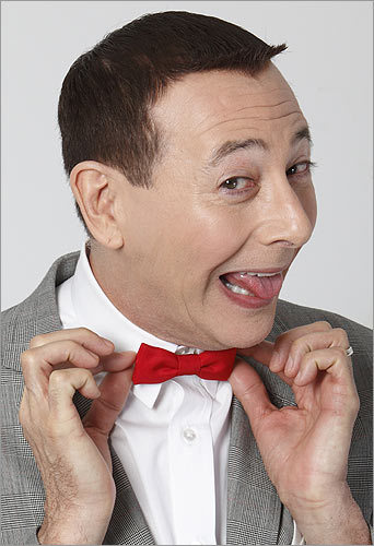 Pee-Wee Herman Paul Reubens's seminal 1980s character only wore one outfit -- and its most recognizable trait was the bright red bow tie.