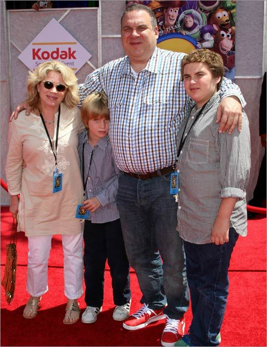 'Curb Your Enthusiasm' actor Jeff Garlin brought wife Marla and sons James (left) and Duke to check out the animated flick.