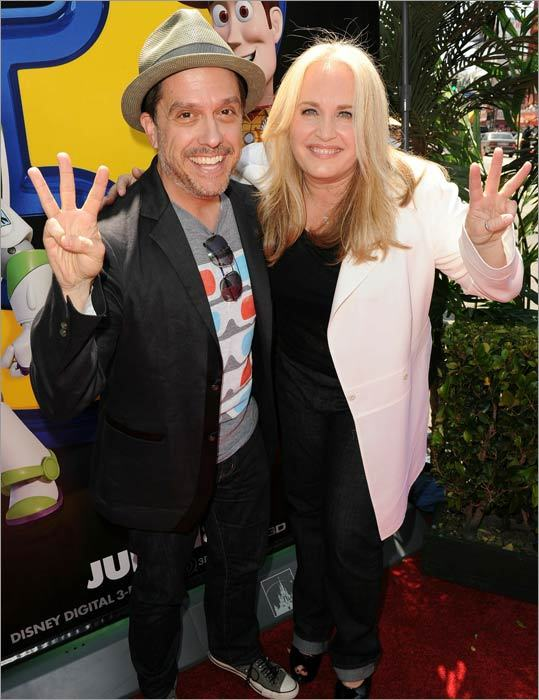 Director Lee Unkrich and producer Darla K. Anderson throw up some threes for in honor of the third installment.