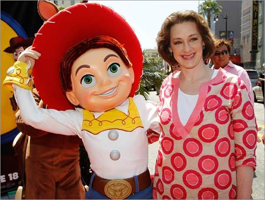 Actress Joan Cusack with the character Jessie, whose voice she represents in the film.