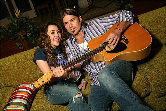 Miley and her real-life father, country singer Billy Ray Cyrus, teamed up for her star-making turn in the title role on Disney's 'Hannah Montana.' The show began airing in 2006 and is currently in its final season. Miley was 12 when she landed the part.