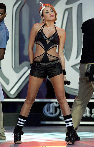 The 17-year-old's skimpy outfits and racy performances at the MuchMusic Awards in Toronto on June 20 left little to the imagination, and a photo of the star in which she may or may not have been wearing underwear caused an uproar on the Internet.