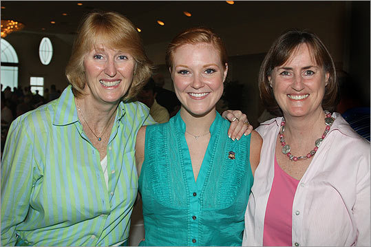 June 28 in Quincy From left: Libby Bender of Sherborn, Maura Connelly, and her mother, Janet Connelly of Medfield.