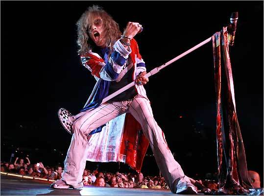 Steven Tyler, lead singer of Aerosmith, performed at Fenway Park in Boston on Aug. 14.